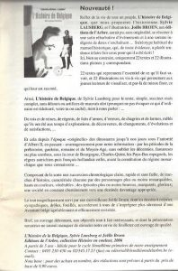 Histoire de Belgique à colorier L Educateur mai 2006