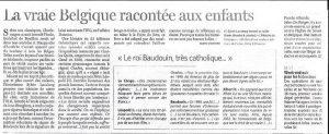 Histoire de Belgique à colorier dans Le Soir 25 mars 2006