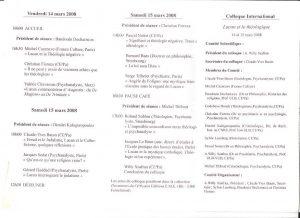 Lacan et le théologique Colloque 14 et 15 mars 2008 Comité orga