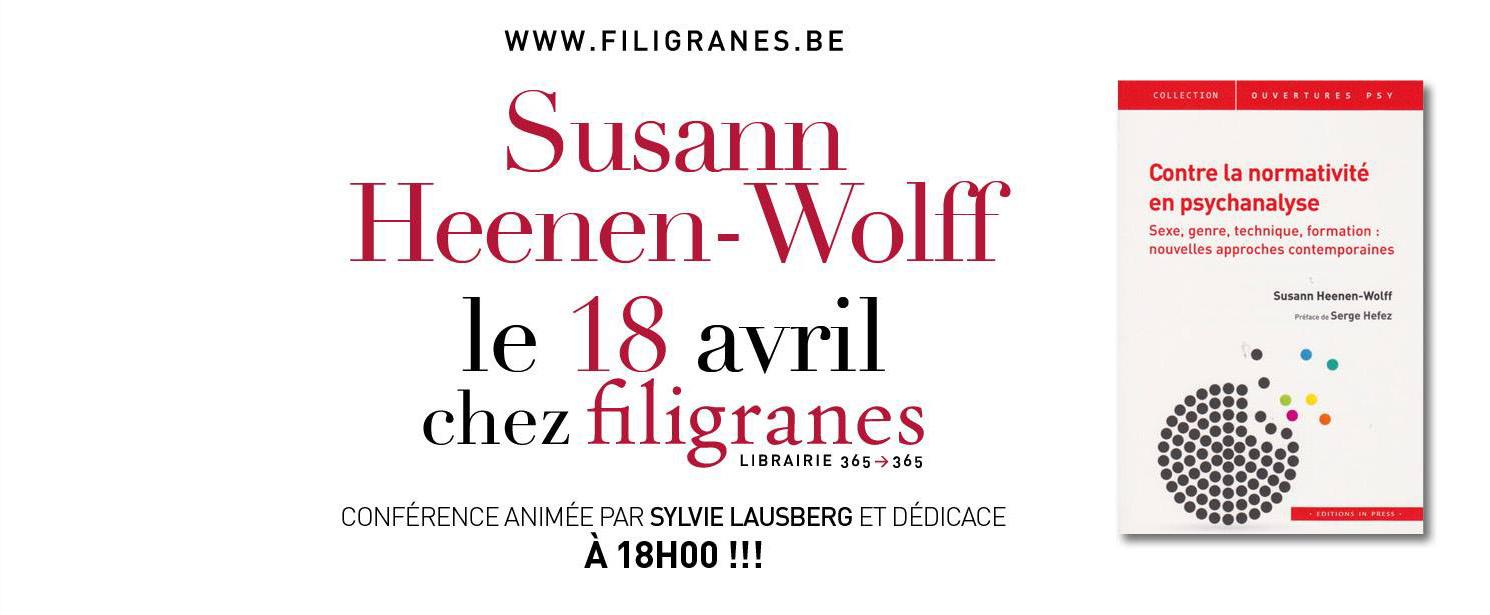 Susann Heenen-Wolff chez Filigranes